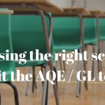Choosing the right school to sit the AQE/GL test