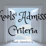 Schools' Admission Criteria