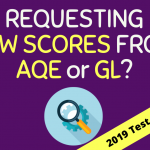 Submit AQE / GL Raw Scores (2019 Test)